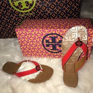 065b1acb77e306 Tory Burch Shoes - The Tory Burch flip-flop color watermelon